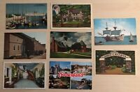 Lot of 8 Souvenir Vintage Postcards Ohio Cavern's Disneyland Mackinac Hermitage