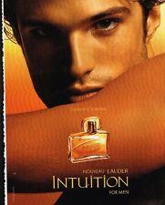 Publicité advertising 2004 Parfum pour Homme Intuition Estée lauder