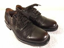 Banana Republic mens brown leather cap toe shoes size 10.5 nice made in Italy
