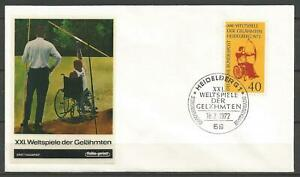 Germany FDC 1972 World Paralympic Games Heidelberg (Archer in Wheelchair)