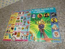 ALBUM UOMINI ILLUSTRI PANINI 1967 ORIGINALE COMPLETO MB/OTTIMO+CEDOLA TIPO EDIS