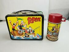 "Vintage 1964 ""Popeye"" Metal Lunch Box & Thermos"