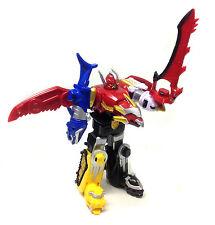 """Power Rangers 12"""" MEGFORCE MEGAZORD combineable robot toy figure, good condition"""