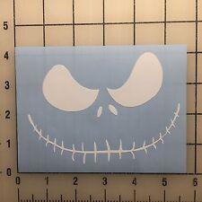 """Jack Skellington 5"""" Wide White Vinyl Decal Sticker Set - BOGO"""
