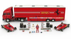Ferrari Race Transporter Complete Set 1982 Fiat Iveco Truck+ 2x 1:43 BRUMM RTS05