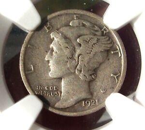 1921  Mercury Dime   -  NGC XF 40