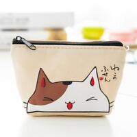 Women Coin Purse Case Wallet Card Holder Key Change Bag Mini Pouch Cat Xmas Gift