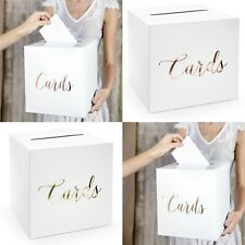 WEDDING DAY CARD BOXES - WEDDING DAY CARD BOX - ROSE GOLD / GOLD TEXT