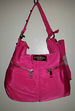 DIESEL SAC MULTIPORTAGE CLOUTE EN TOILE POLYESTER FUCHSIA /DORE