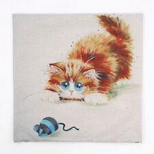 "Cushion Cover Sofa Pillow Case ""CUTE CAT #7"" 45cm x 45cm Beautiful Gift Idea NEW"