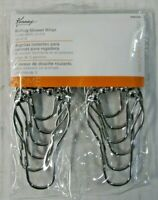 Kenney Solid Metal Rolling Ball Rings Shower Curtain Hooks Chrome 12pcs Pack