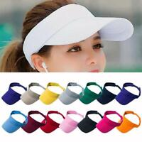 Adjustable Visor Sun Plain Hat Sports Cap Colors Tennis Golf Beach Men Women