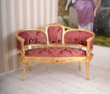 Sofabank Rokoko Sofa Salonsofa Antik Couch Retro Sitzbank Zweisitzer Polstersofa
