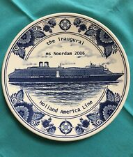 Holland America Delft Plate Commemorating the Inaugural of Ms Noordam 2006
