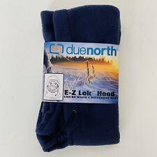 DUE NORTH Adult Fleece Hood Neck Gaiter E-Z Lok One Size Navy Blue Wear 4 Ways
