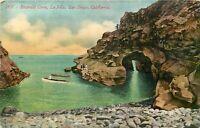 DB CA Postcard I123 Emerald Cove La Jolla San Diego Pleasure Cruise Boat