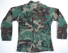 US Army Military Woodland BDU Camouflage Type 1 Combat Coat Jacket Shirt S