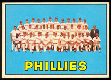 1967 TOPPS OPC O PEE CHEE BASEBALL #102 PHILADELPHIA PHILLIES TEAM EX-NM CARD
