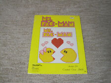 Vtg Ms Pac-Man Plastic Canvas Projects Pattern Book 3 Millcraft 1981 Needlepoint