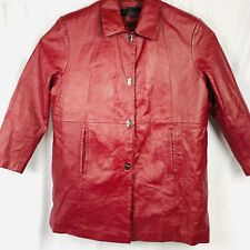 Phase 2 Womens Jacket 3XL Red Botton Front