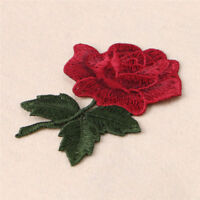 2 x Embroidery Rose Flower Sew On Patch Badge Bag Jeans Hat Dress Applique Craft