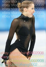 Ice skating dress.Black Competition Figure Skating Dress.Custom-made Dance Dress