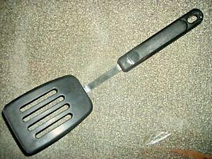 "Vintage EKCO Short Slotted Nylon Blade Spatula Plastic Handle 10 3/4"""