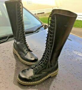 Dr Martens 1420 black smooth leather boots UK 7 EU 41 20 eye