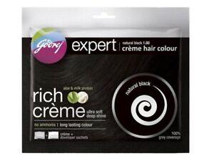 3 X Pack Godrej Expert Herbal Rich Creme Hair Color No Ammonia natural black