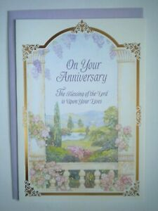 "DaySpring ~ ""ON YOUR ANNIVERSARY..."" GREETING CARD + LAVENDER ENVELOPE"