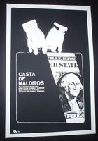 THE KILLING / Cuban Silkscreen Poster for U.S. Movie by Stanley Kubrick CUBA ART