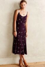 Anthropologie Tracy Reese Purple Beaded Silk Midi Maxi Dress Size 6 Retails $330