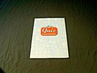 Quiz On Railroads And Railroading Booklet 1950
