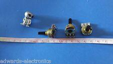 B10K Solder Lug Potentiometers RA 12mm Plastic D Shaft Panel Mount W/NUT  QTY:10