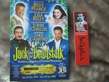 More details for john challis hand signed panto flyer & bookmark
