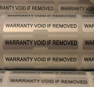 Warranty Void Stickers Tamper Proof Evident Labels Security Seal Dogbone Quality