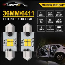 2X ERROR FREE 36MM LED Festoon Bulb HID White Car Interior Map Dome Light AUXITO