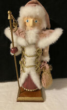 Nutcracker Hand Painted Pink Gold Cape Father Of Winter Christmas Original Box