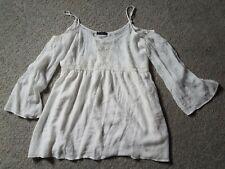 Honey Punch XL White Off Shoulder Bell Sleeve Dress