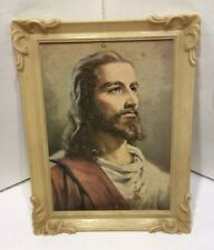 Jesus Christ Litho Print By Peter Bianchi 5x7 Plastic Framed 1959 Messenger Corp