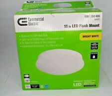 Commercial Electric 11 In LED Flush Mount Lot Of 2