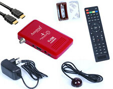 MINI DECODEUR SATELLITE HD  DEMODULATEUR RECEPTEUR FTA HDMI USB 220V 12V CAMPING