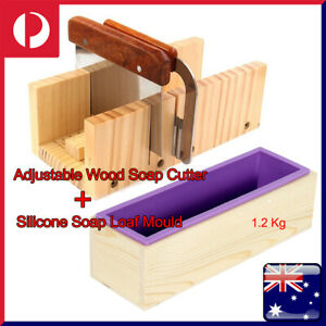 1.2kg Wood Loaf Soap Mould with Silicone OR Adjustable soap cutter with Scale AU