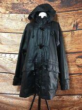 Large Ladies Black Leather Jacket Wilson