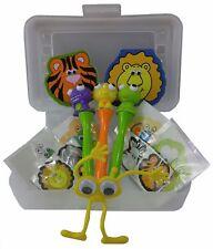 Kids Arts & Crafts Kit w/Bug Eyes Dinosaur Pens, Stickers, Case & More - SALE!
