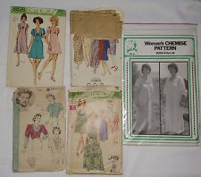 LOT Vintage Women Shirts Dress Clothing Sewing Patterns SIMPLICITY HOLLYWOOD Sew