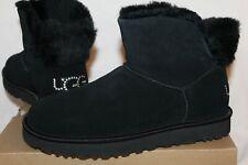 NIB UGG Women's Mini Bling Swarovski Crystal Suede Boots Black 7 8 9