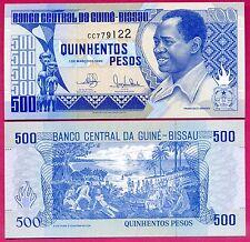 Guiné-Bissau ( P#12 ) billet de banque 500 pesos ~ neuf ~ 1990 .