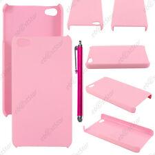 Etui Housse Coque Rigide Fine sans motif Rose Apple iPhone 4S 4 + Stylet
