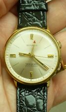 VINTAGE RARE BENRUS GOLD PLATE SEA LORD WRISTALARM WRIST WATCH SERIES 1345